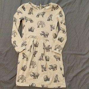 H&M animal print dress 4-6yrs